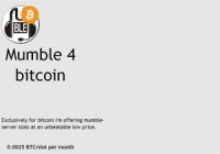 Mumble 4 bitcoin
